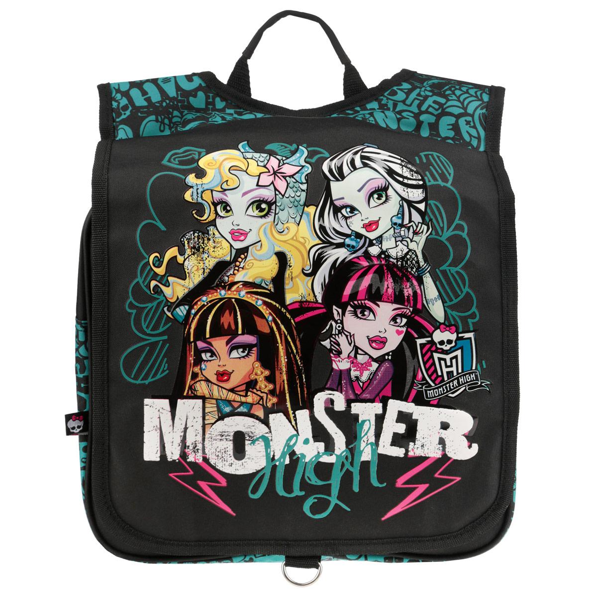 Рюкзак Monster High, цвет: черный, бирюзовый. MHBA-UT1-382
