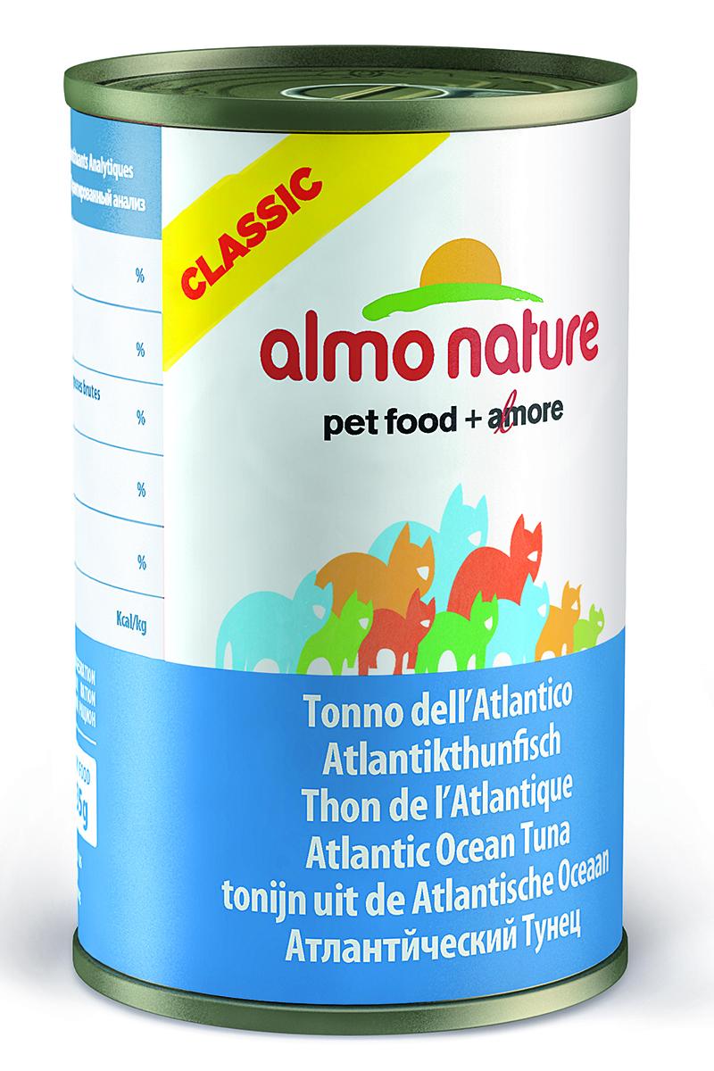 Фото - Консервы для кошек Almo Nature Classic, с атлантическим тунцом, 140 г консервы almo nature для кошек с океанической рыбой 85 г