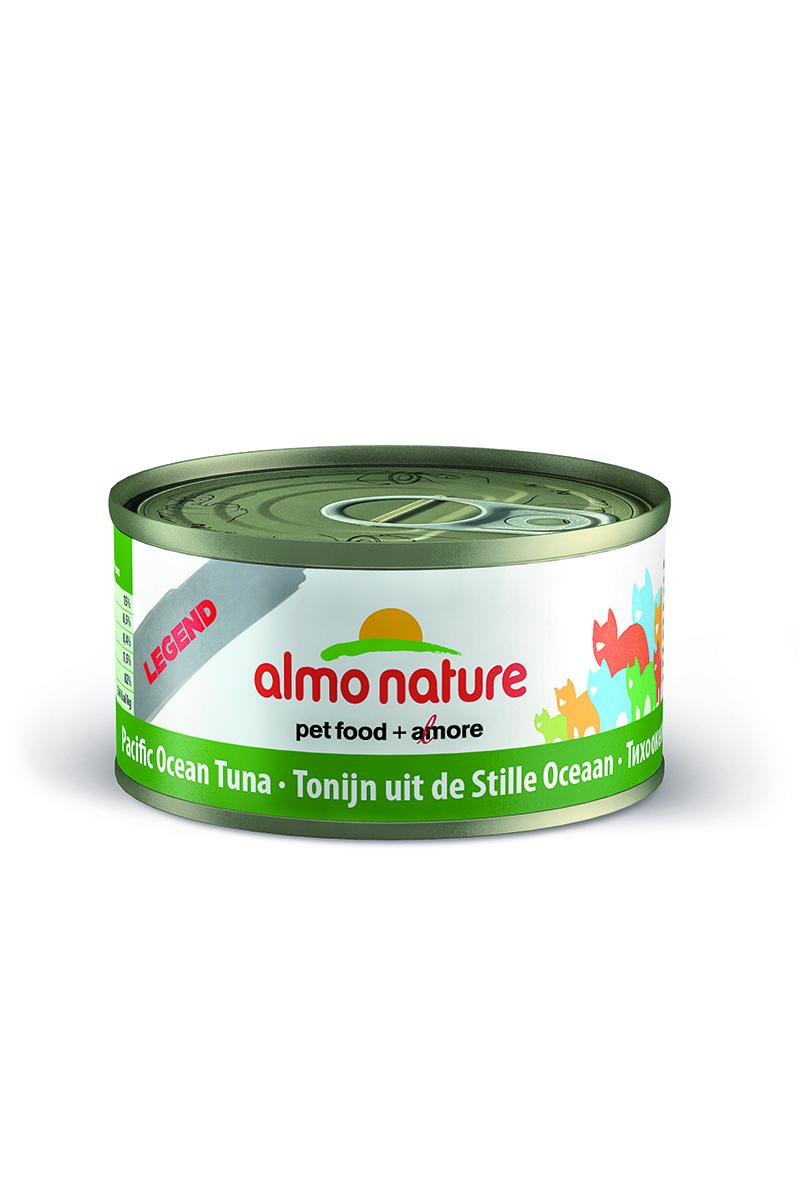 Консервы для кошек Almo Nature Classic, с тихоокеанским тунцом, 70 г консервы almo nature classic light для кастрированных котов и стерилизованных кошек с полосатым тунцом 55 г