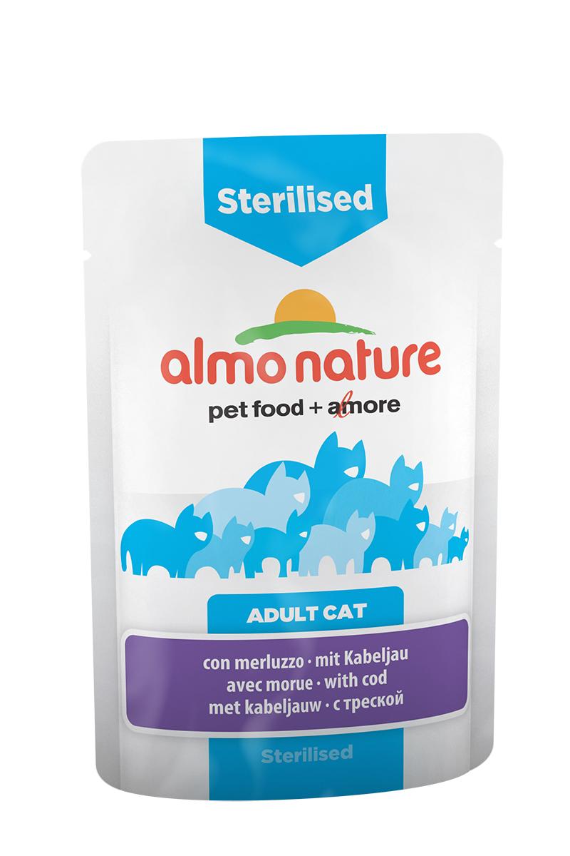 Консервы Almo Nature Functional Line для кастрированных котов и стерилизованных кошек, с треской, 70 г консервы almo nature classic light для кастрированных котов и стерилизованных кошек с полосатым тунцом 55 г
