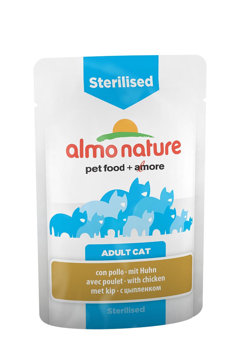 Консервы Almo Nature Functional Line для кастрированных котов и стерилизованных кошек, с цыпленком, 70 г консервы almo nature classic light для кастрированных котов и стерилизованных кошек с полосатым тунцом 55 г