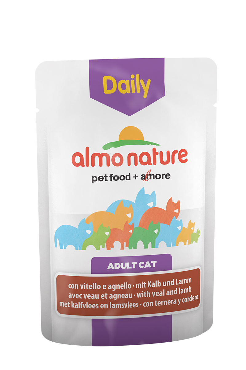 """Консервы для кошек Almo Nature """"Daily Menu"""", с телятиной и ягненком, 70 г"""