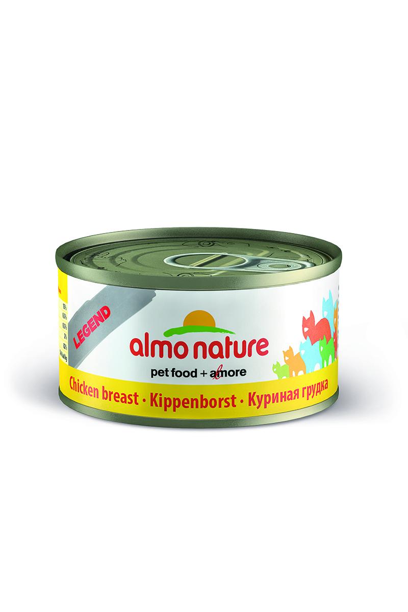 Консервы для кошек Almo Nature Legend, с куриной грудной, 70 г консервы almo nature alternative для кошек с куриной грудкой 55 г