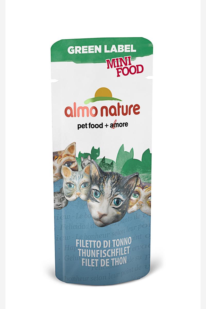 Лакомство для кошек Almo Nature Green Label, филе тунца, 3 г консервы для кошек almo nature classic raw pack куриная грудка и утиное филе 55 г
