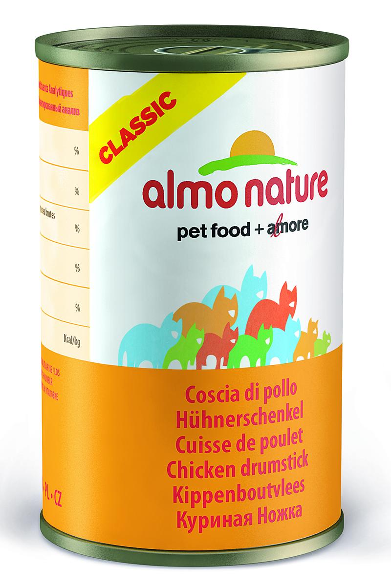 Фото - Консервы для кошек Almo Nature Classic, с куриными бедрышками, 140 г консервы almo nature для кошек с океанической рыбой 85 г