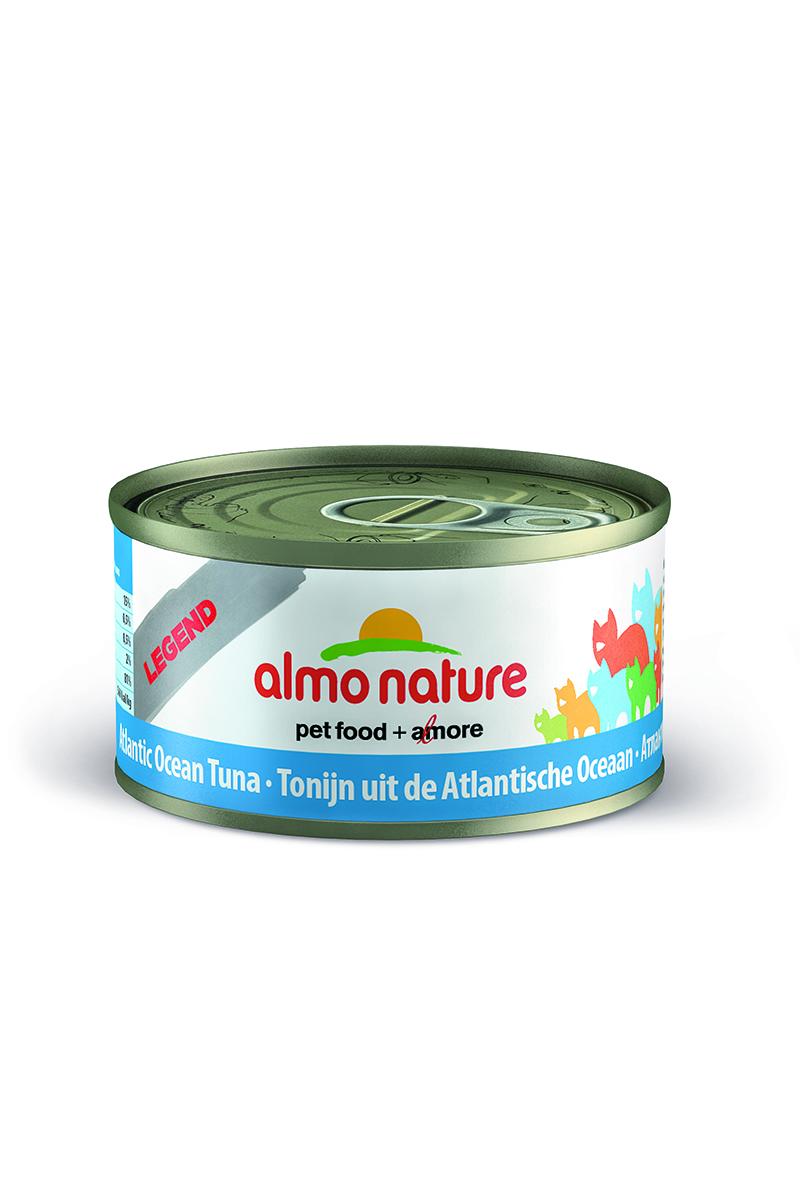 Консервы для кошек Almo Nature Classic, с атлантическим тунцом, 70 г консервы almo nature classic light для кастрированных котов и стерилизованных кошек с полосатым тунцом 55 г