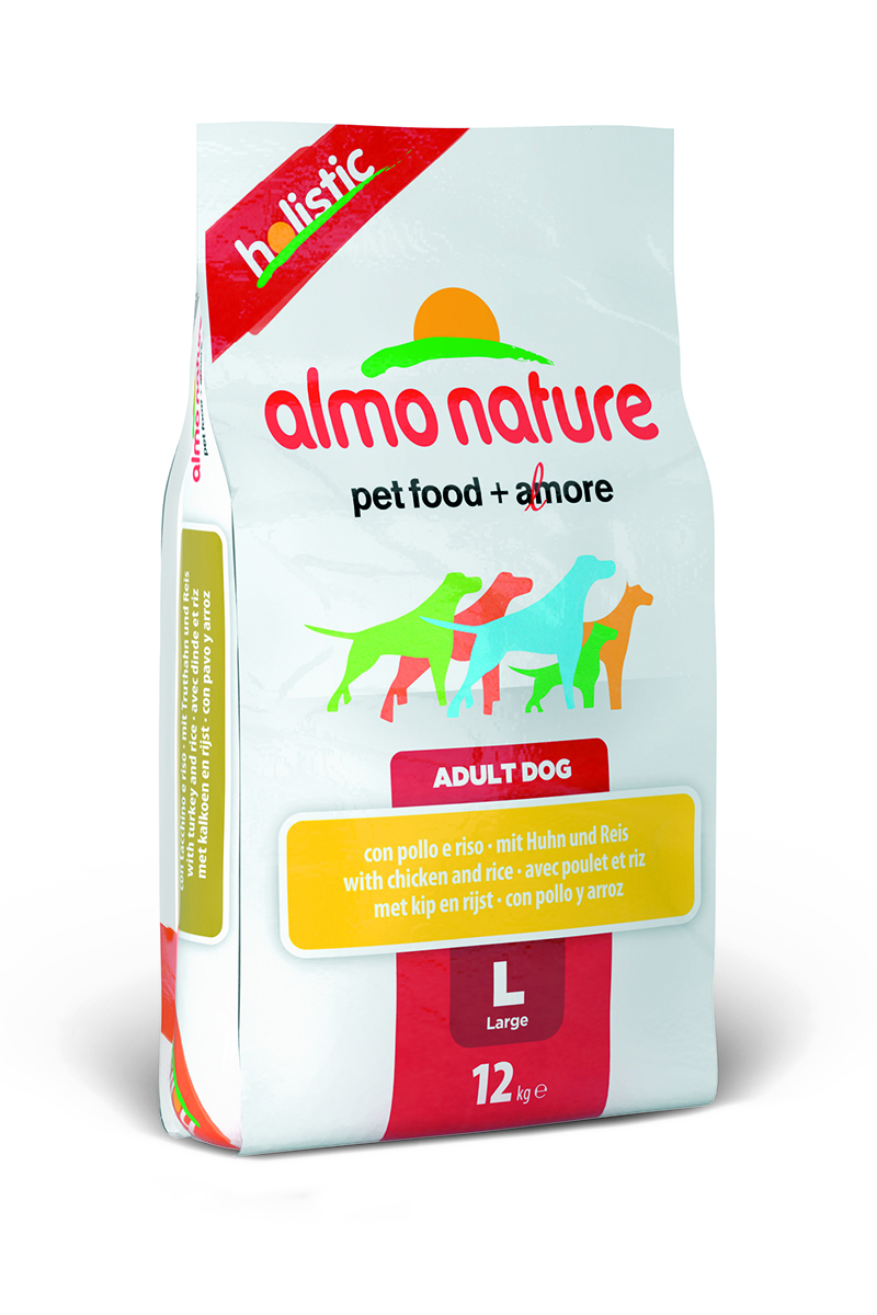 """Корм сухой Almo Nature """"Holistic"""" для взрослых собак крупных пород, с курицей, 12 кг"""