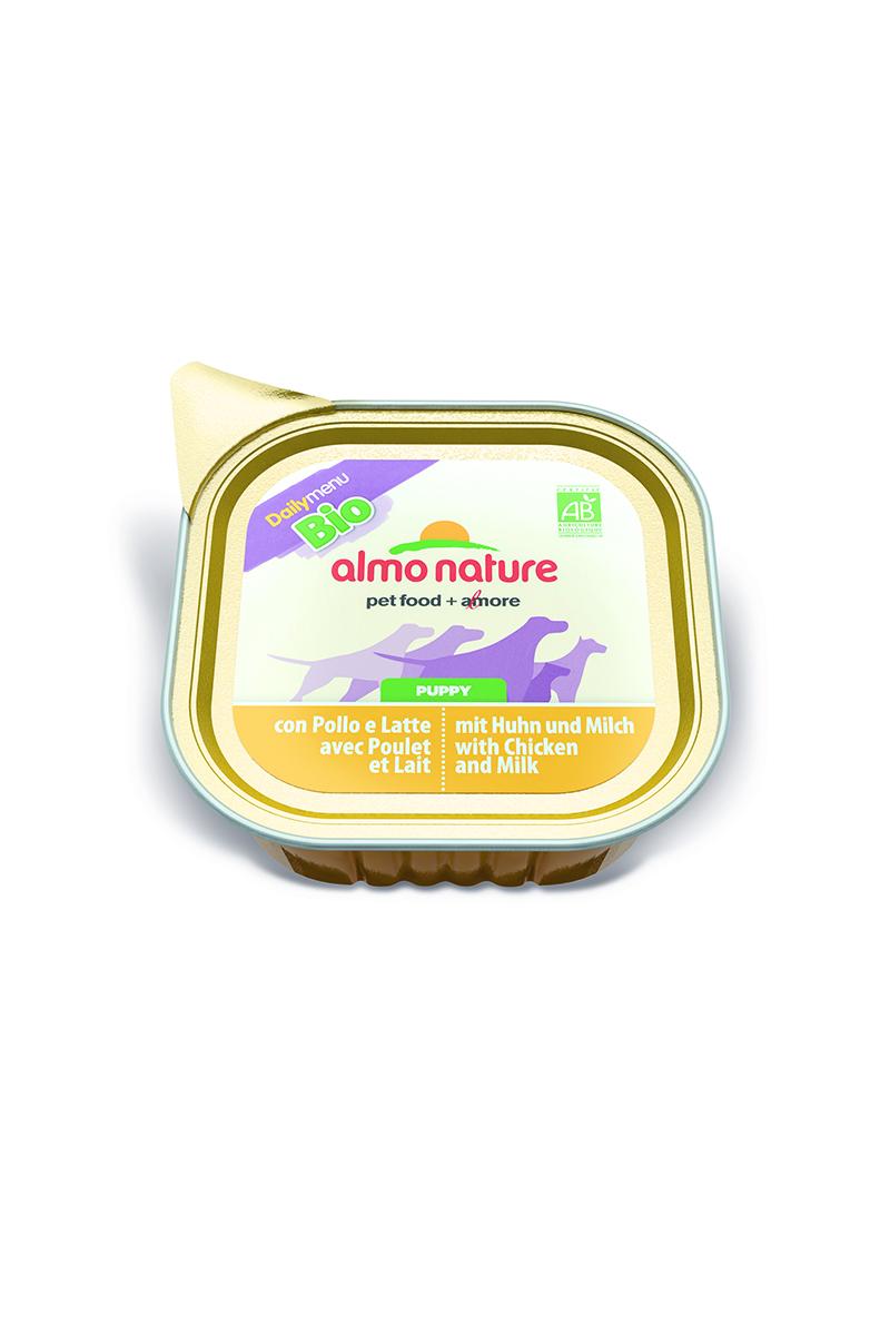 Паштет для щенков Almo Nature Daily Menu. Bio, курица в молоке с овощами, 100 г паштет для собак almo nature daily menu bio с телятиной и овощами 300 г