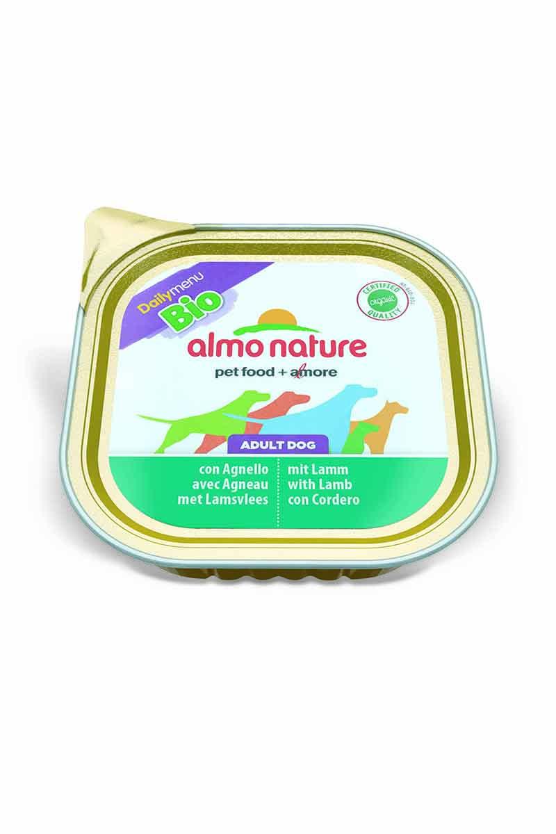 Паштет для собак Almo Nature Daily Menu. Bio, с ягненком, 300 г паштет для собак almo nature daily menu bio с телятиной и овощами 300 г