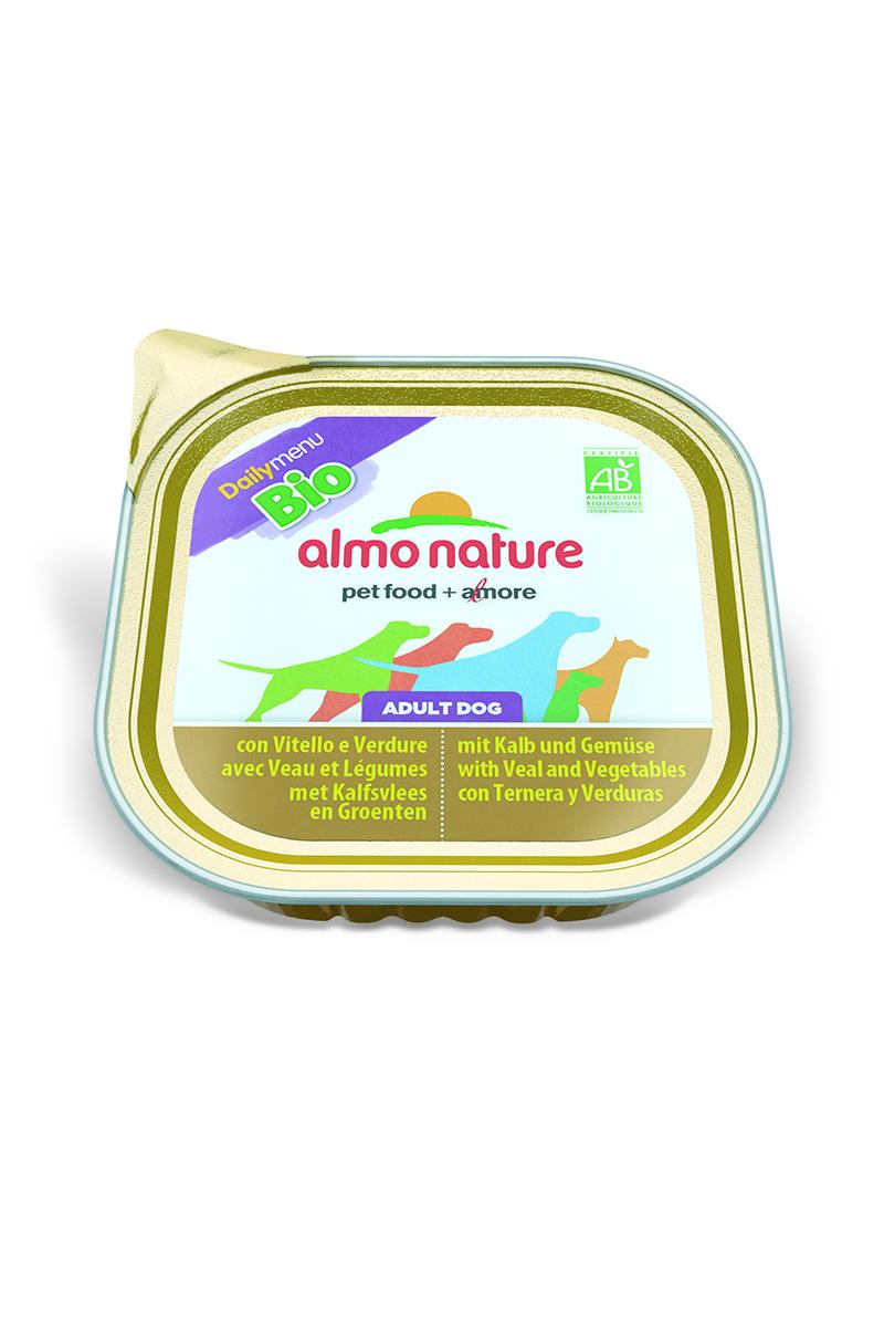 Фото - Паштет для собак Almo Nature Daily Menu. Bio, с телятиной и овощами, 300 г консервы для кошек almo nature daily menu с форелью 85 г