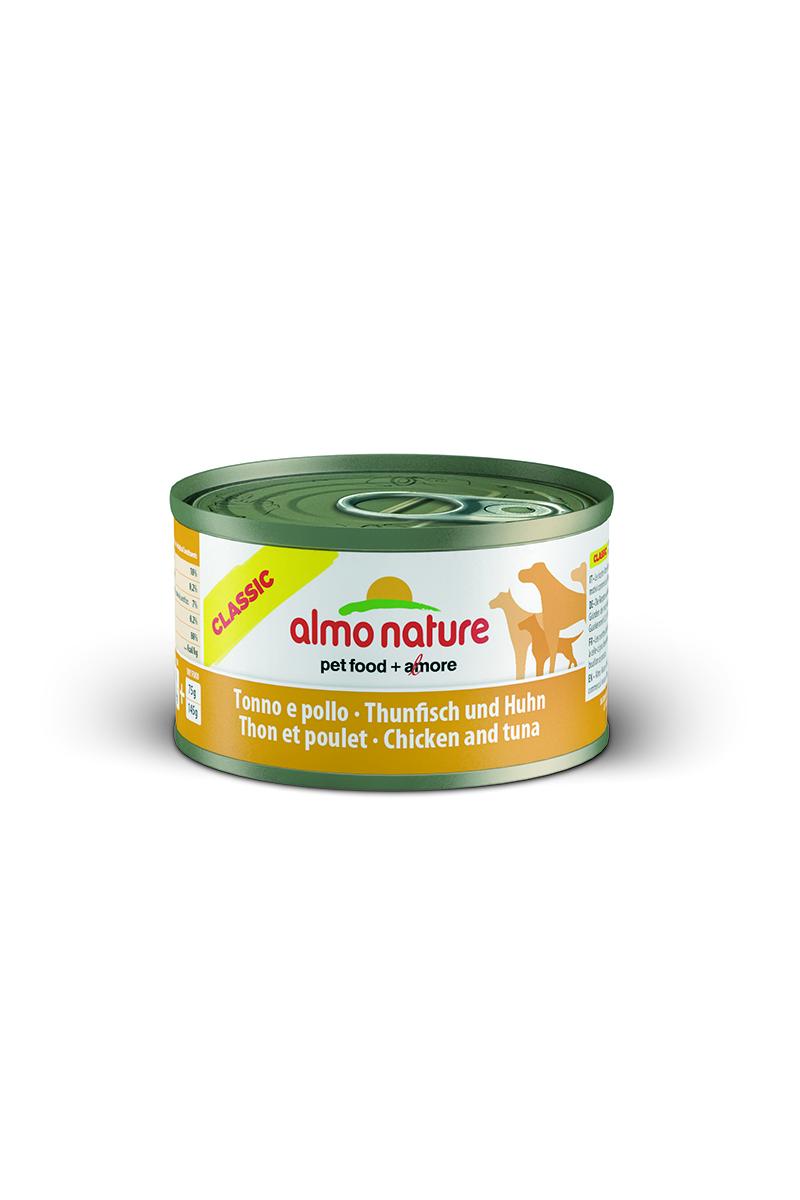 """Консервы для собак Almo Nature """"Classic"""", с тунцом и курицей, 95 г"""