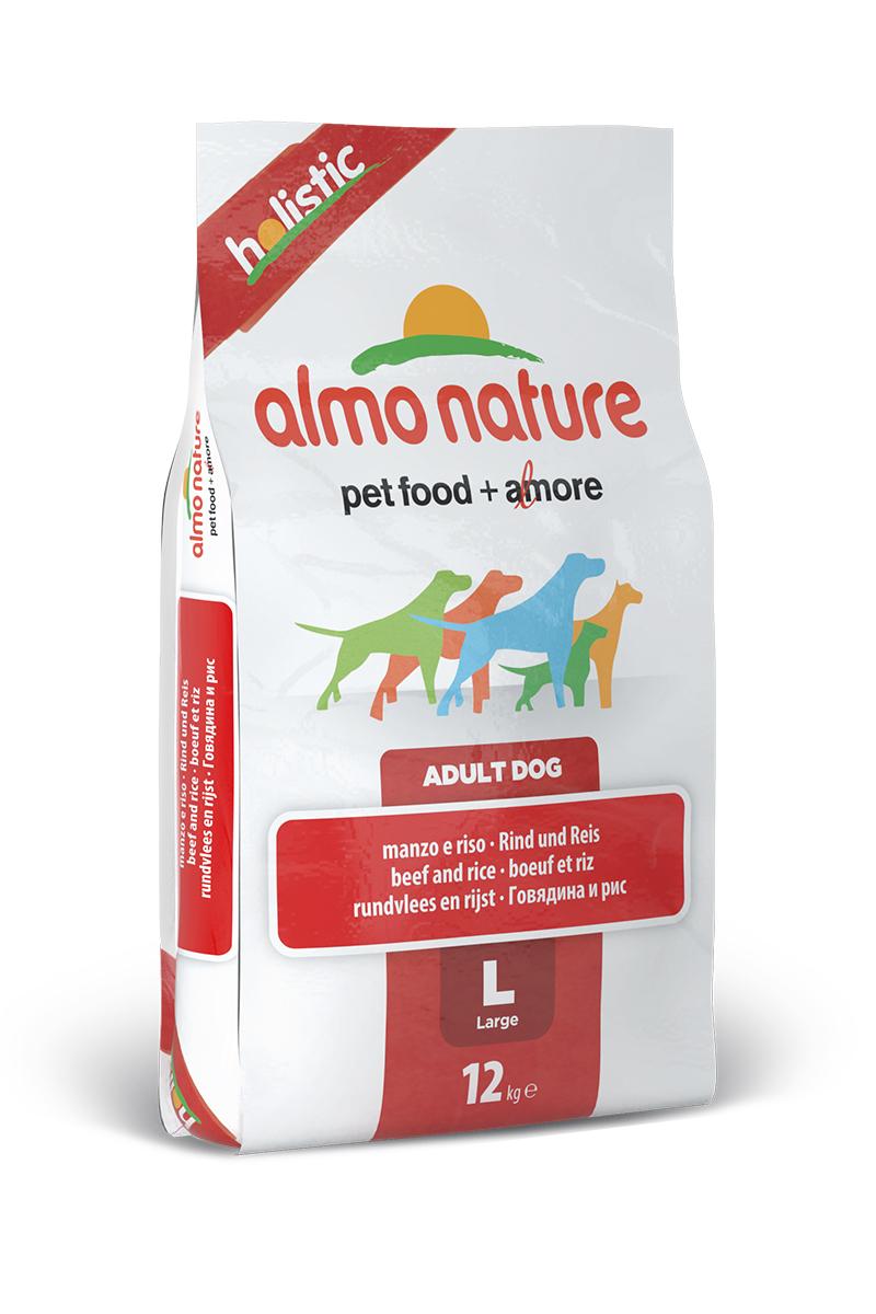 """Корм сухой Almo Nature """"Holistic"""" для взрослых собак крупных пород, с говядиной и коричневым рисом, 12 кг"""