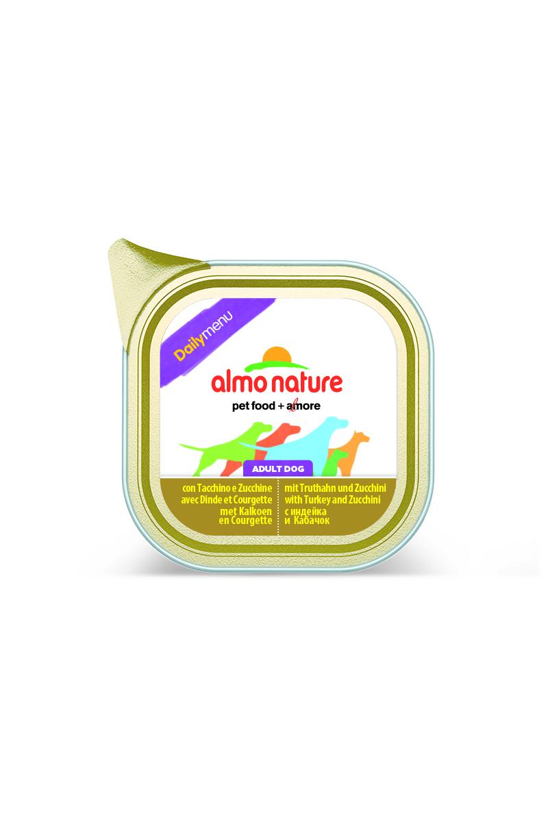 Консервы для собак Almo Nature Daily Menu, с индейкой и цуккини, 100 г добавка пищевая nature s bounty нэйчес баунти натуральная эхинацея 400 мг 100 капсул