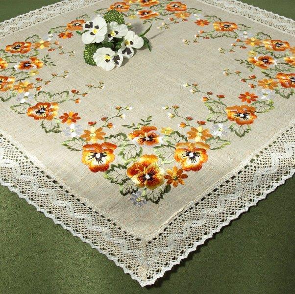 Скатерть Schaefer Цветы, квадратная, 100 x 100 см скатерть schaefer квадратная цвет бежевый золотистый 85 x 85 см 07486 100