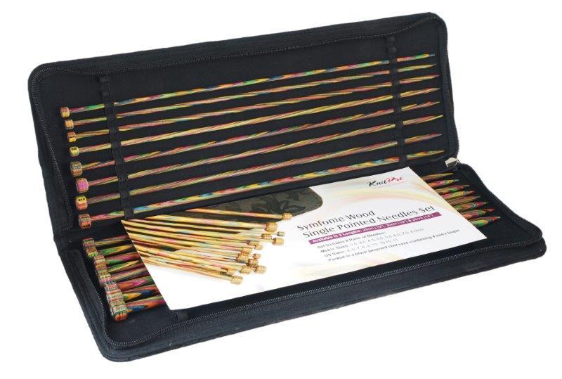 Фото - Набор прямых спиц KnitPro Symfonie Wood, 3,5-8 мм, 16 шт. 20228 набор коротких спиц lace short tips