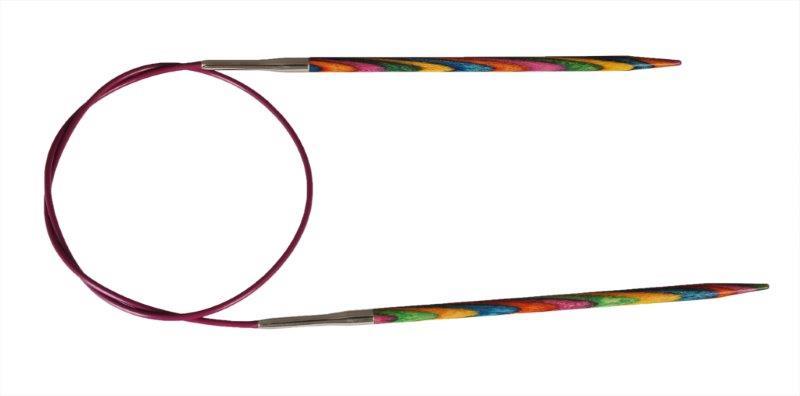 Спицы круговые KnitPro Symfonie, диаметр 2 мм, длина 60 см20321Спицы для вязания KnitPro Symfonie изготовлены из ценных пород дерева с привлекательным разноцветным дизайном. Кончики спиц закругленные. Спицы скреплены гибким пластиковым шнуром. Они прочные, легкие, гладкие, удобны в использовании. Круговые спицы наиболее удобны для выполнения деталей и изделий, не имеющих швов. Короткими круговыми спицами вяжут бейки горловины, воротники-гольф, длинными спицами можно вязать по кругу целые модели. Вы сможете вязать для себя, делать подарки друзьям. Рукоделие всегда считалось изысканным, благородным делом. Работа, сделанная своими руками, долго будет радовать вас и ваших близких.