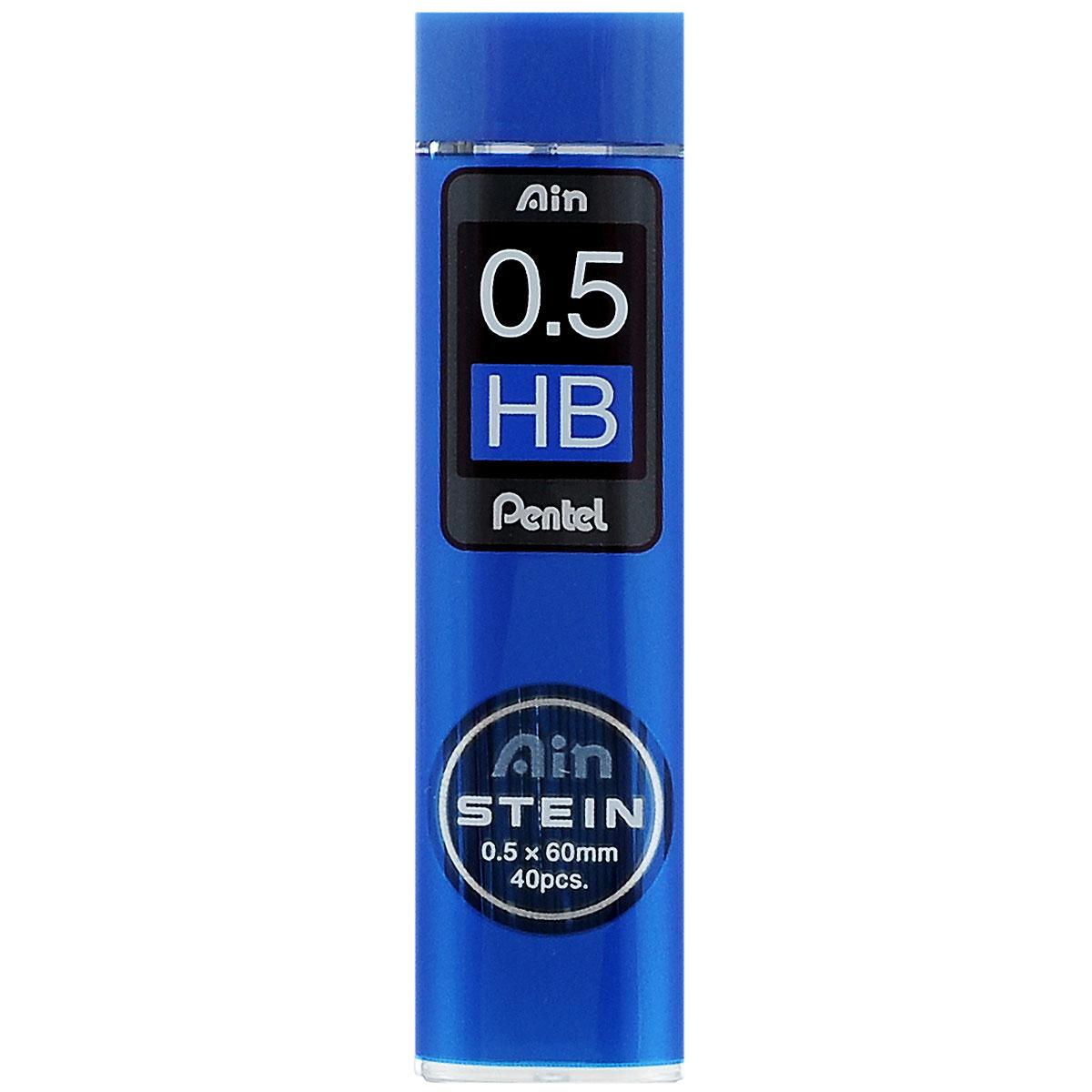 "Pentel Грифели для автоматических карандашей ""Ain Stein"", HB, 0,5 мм, 40 шт"