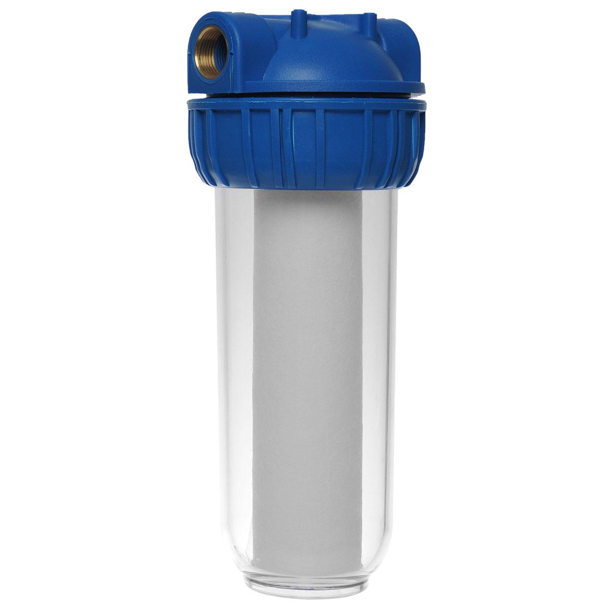 Фильтр для воды ЭкоДоктор 1Л, 3/4111010Фильтр ЭкоДоктор предназначен для тонкой очистки воды от механических частиц, удаления песка, ржавчины и улучшения показателей мутности и цветности воды. Он имеет увеличенный ресурс и степень очистки. Собран из импортных высококачественных комплектующих. Колба имеет прозрачный корпус из прочного пластика и одинарное уплотнительное кольцо. В комплект фильтра входят колба, картридж, кронштейн для крепления на стену, ключ для замены картриджей, инструкция по эксплуатации. Характеристики: Типоразмер: 10 SL. Высота корпуса 31 см. Подключение: 3/4. Рабочее давление воды: до 8 Атм. Температура воды на входе: 1-40°С. Размер упаковки: 13 см х 15 см х 35 см. Артикул: 111010.