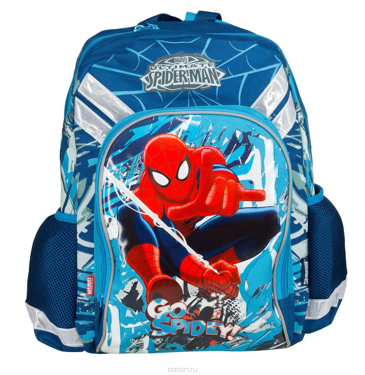 Рюкзак школьный Kinderline Spider-man Classic, цвет: синий, красный, белый. SMCB-MT1-988M