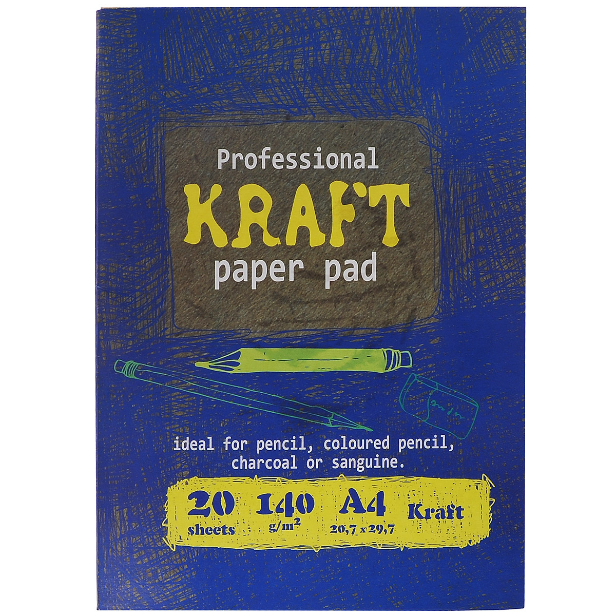 Папка для рисования и эскизов Kroyter, 20 листов, формат А4 канцелярия спейс картон цветной двусторонний а4 7 цветов мелованный в папке 7 листов 48 листов