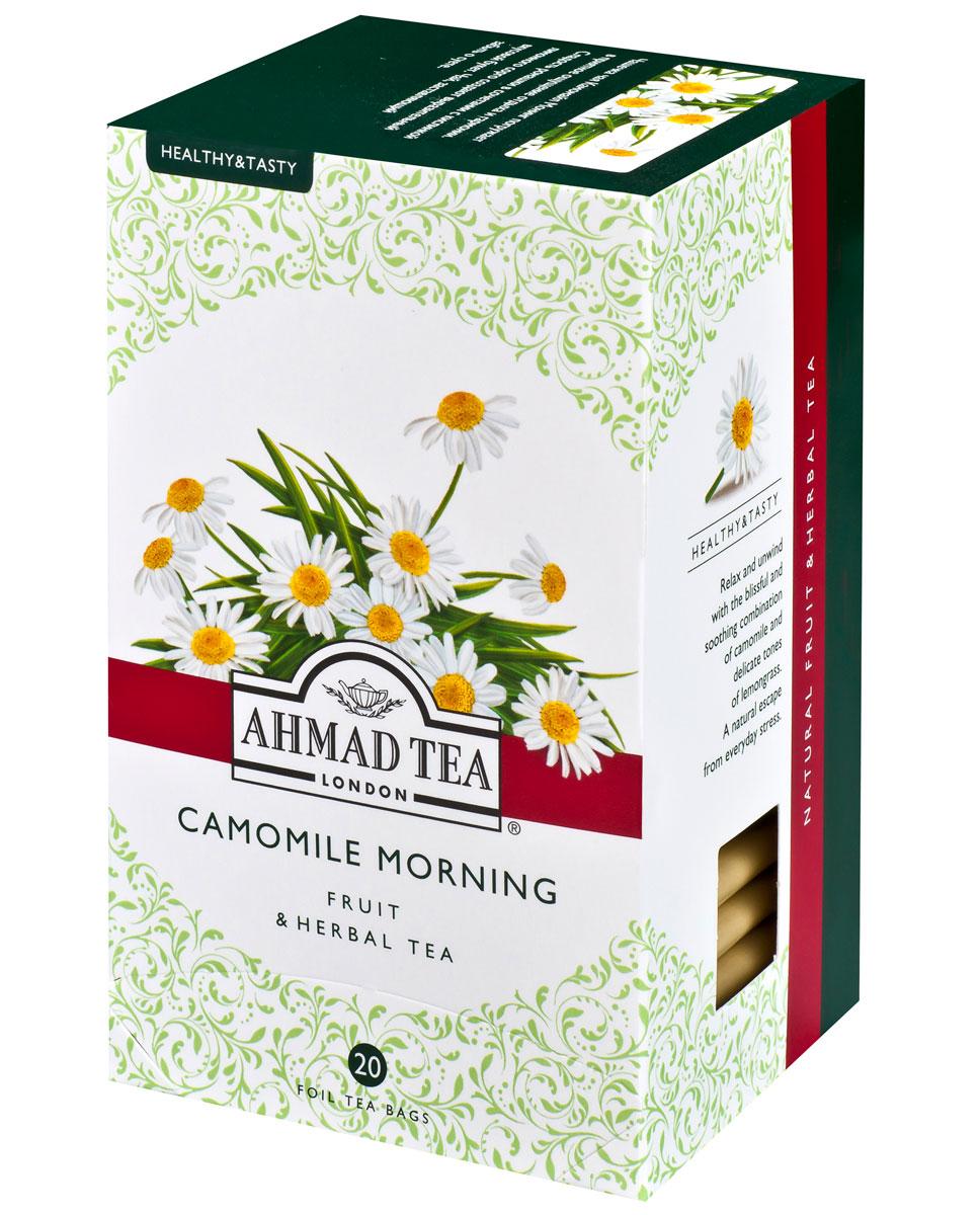 Ahmad Tea Camomile Morning травяной чай в фольгированных пакетиках, 20 шт