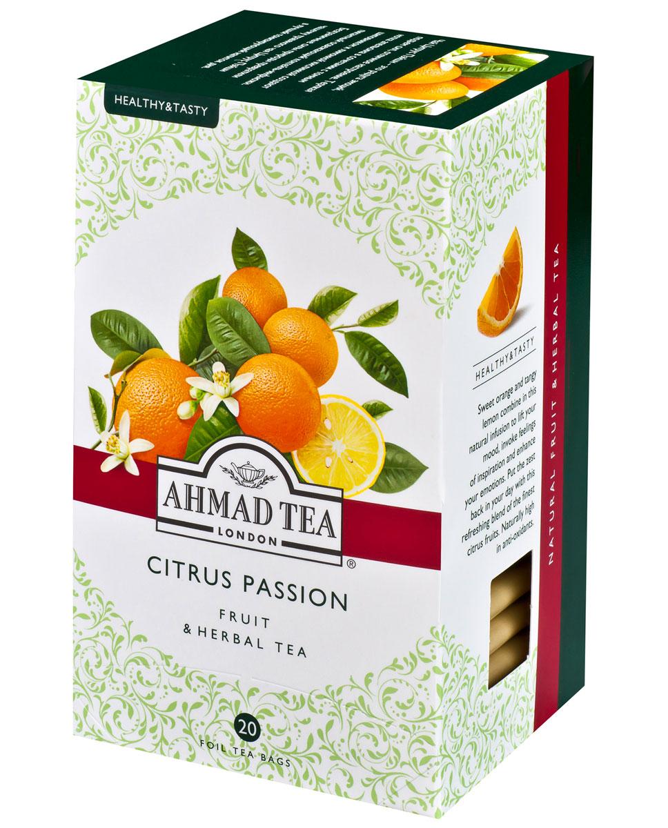 Ahmad Tea Citrus Passion травяной чай в фольгированных пакетиках, 20 шт