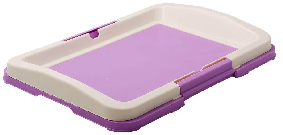 Туалет для собак V.I.Pet Японский стиль, цвет: фиолетовый, белый, 48 х 35 х 5 см туалет для собак v i pet японский стиль цвет коричневый молочный 48 х 35 х 5 см