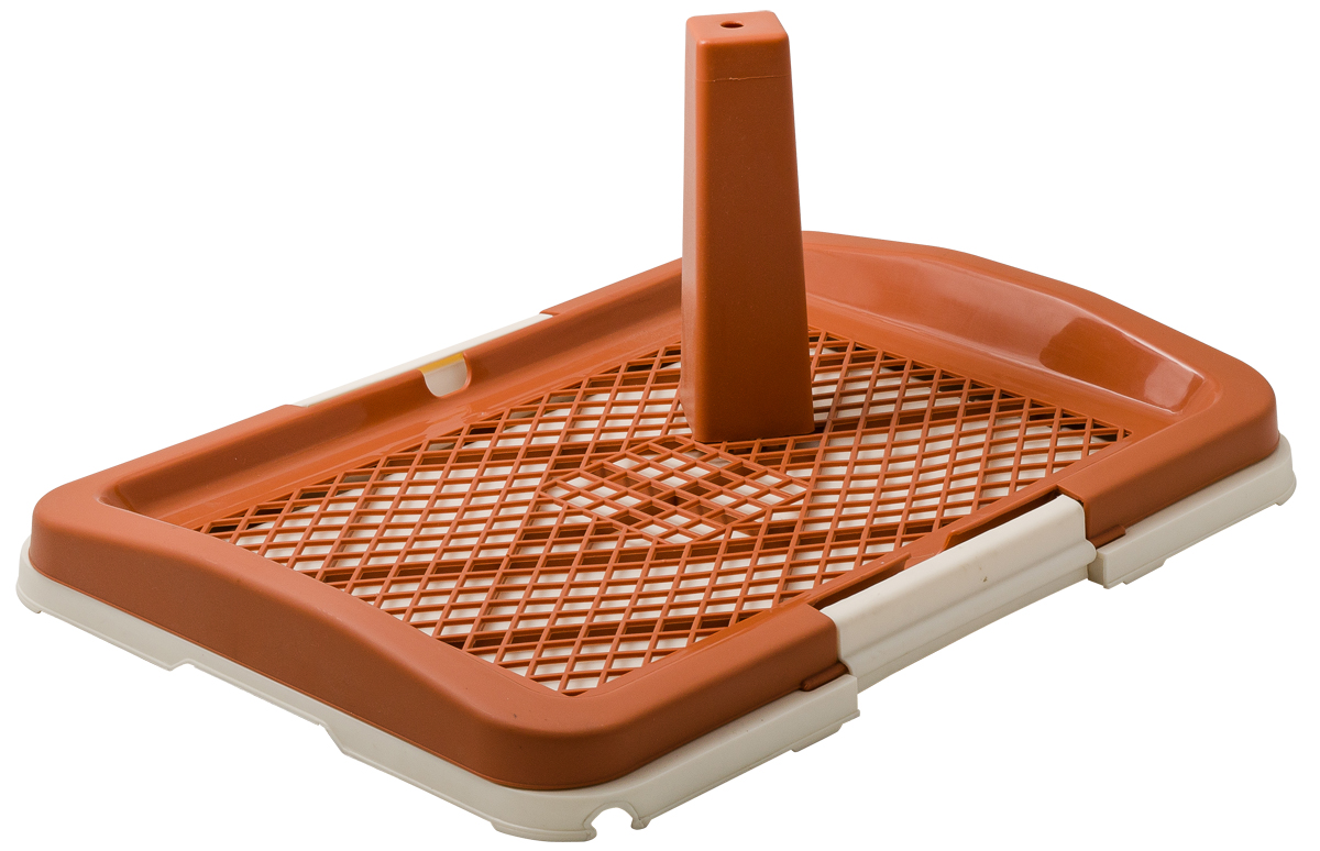Туалет для собак V.I.Pet Японский стиль, со столбиком, цвет: коричневый, молочный, 48 х 35 х 5 смP159-02Туалет для собак V.I.Pet Японский стиль, изготовленный из нетоксичного пластика, предназначен для собак и щенков. Съёмный столбик легко крепится на решетку и позволяет применять туалет независимо от пола собаки. Гигиеническая пелёнка помещается под решетку, которая удерживается боковыми фиксаторами. Туалет легко моется водой. Как выбрать кошачий туалет – статья на OZON Гид.