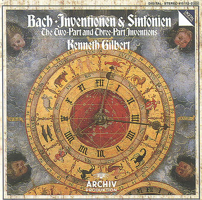 Кеннет Гилберт Kenneth Gilbert. Bach. Two-Part And Three-Part Inventions