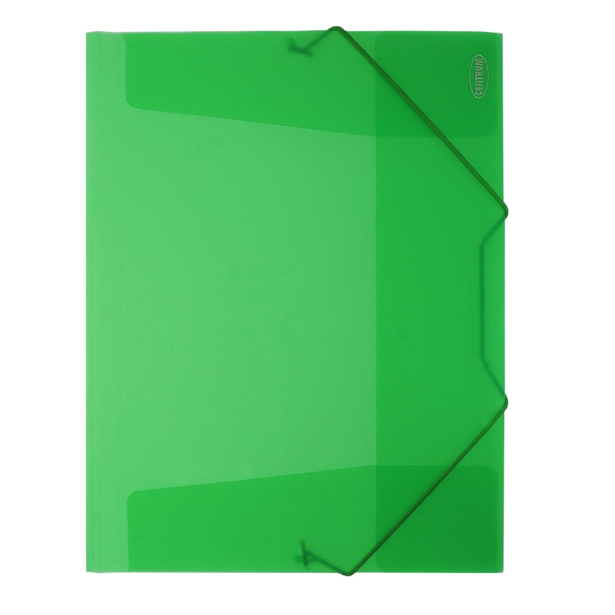 Папка на резинке Centrum пластиковая, формат А4, цвет: зеленый. 80016 папки канцелярские centrum папка регистр а4 5 см фиолетовая