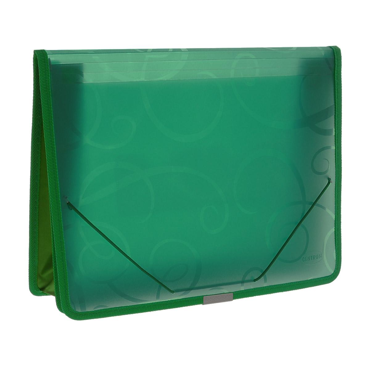 Папка на резинке Centrum, цвет: зеленый, формат А4. 80802 папки канцелярские centrum папка регистр а4 5 см фиолетовая