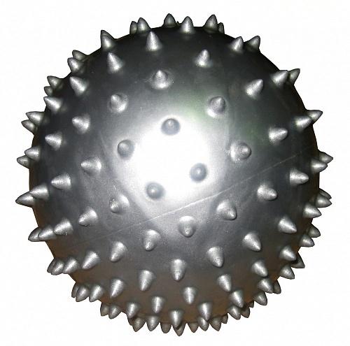 Мяч массажный Alonsa, цвет: серебристый, 20 см цена