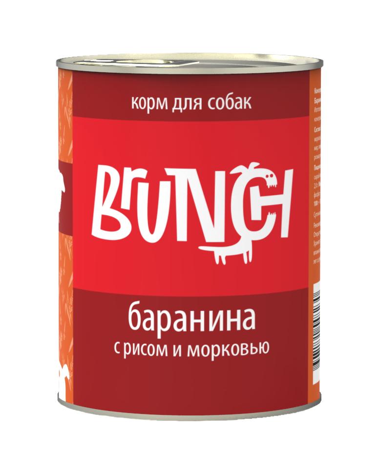 """Консервы для собак """"Brunch"""", баранина с рисом и морковью, 340 г"""