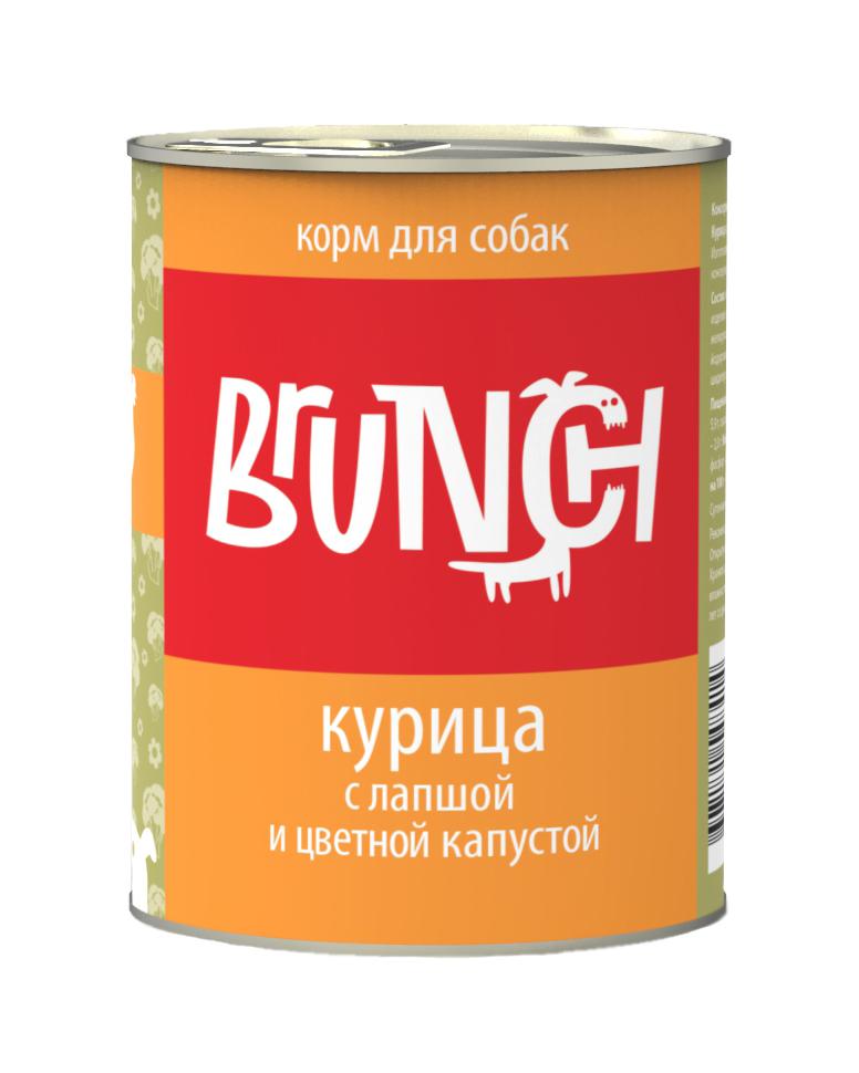 """Консервы для собак """"Brunch"""", курица с лапшой и цветной капустой, 340 г"""