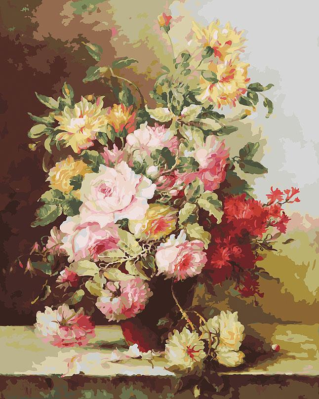 Живопись на холсте Белоснежка Букет Элегия, 40 х 50 см живопись на холсте букет маков 40 см х 50 см