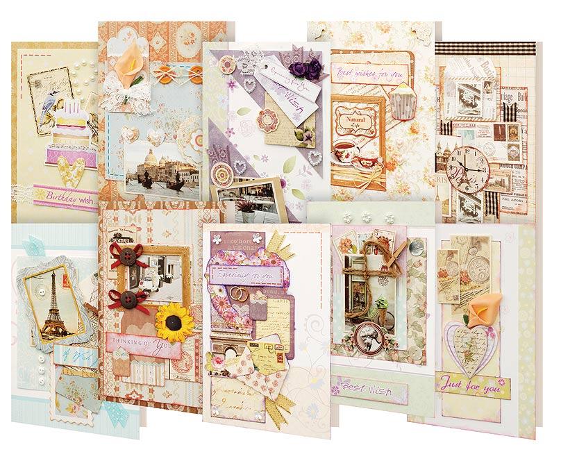 Набор для создания открыток Белоснежка Вернисаж, 10 шт набор для создания открыток белоснежка 10 шт 250 sb