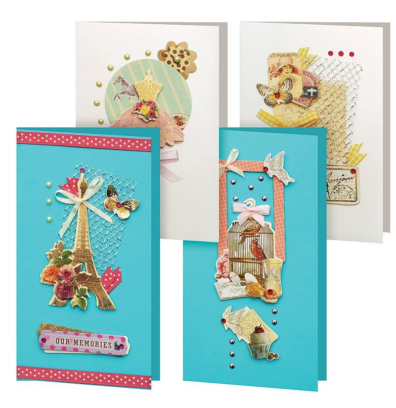 Набор для создания открыток Белоснежка Грация, 4 шт набор для создания открыток белоснежка грация 4 шт
