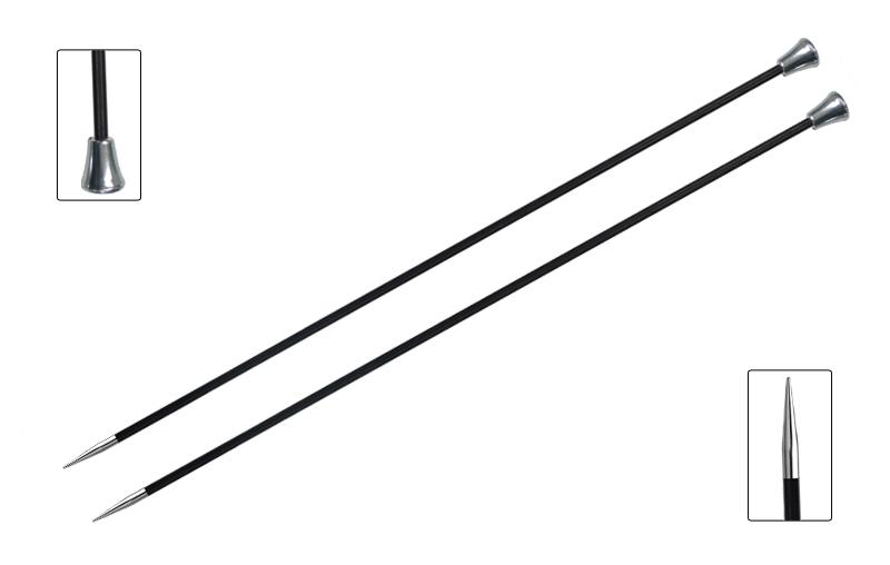 "Спицы чулочные KnitPro ""Karbonez"", диаметр 2,5 мм, длина 35 см, 2 шт"