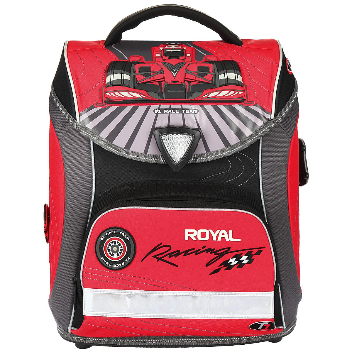 Ранец школьный Hummingbird Royal Racing, цвет: серый, красный, черный. H6 hummingbird ранец bmx rider