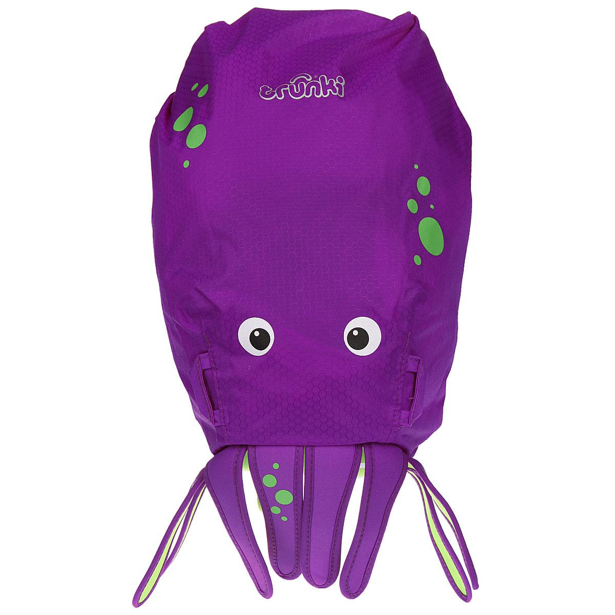 Детский рюкзак для бассейна и пляжа Trunki Осьминог, цвет: фиолетовый, салатовый, 7,5 л детский рюкзак для бассейна и пляжа trunki осьминог цвет фиолетовый салатовый 7 5 л