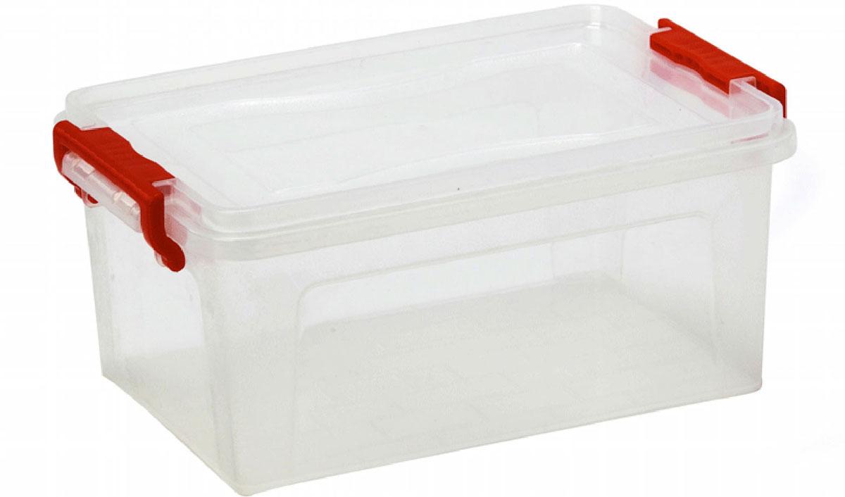 Контейнер для хранения Idea, прямоугольный, цвет: прозрачный, красный, 8,5 л контейнер для хранения idea прямоугольный цвет салатовый прозрачный 8 5 л