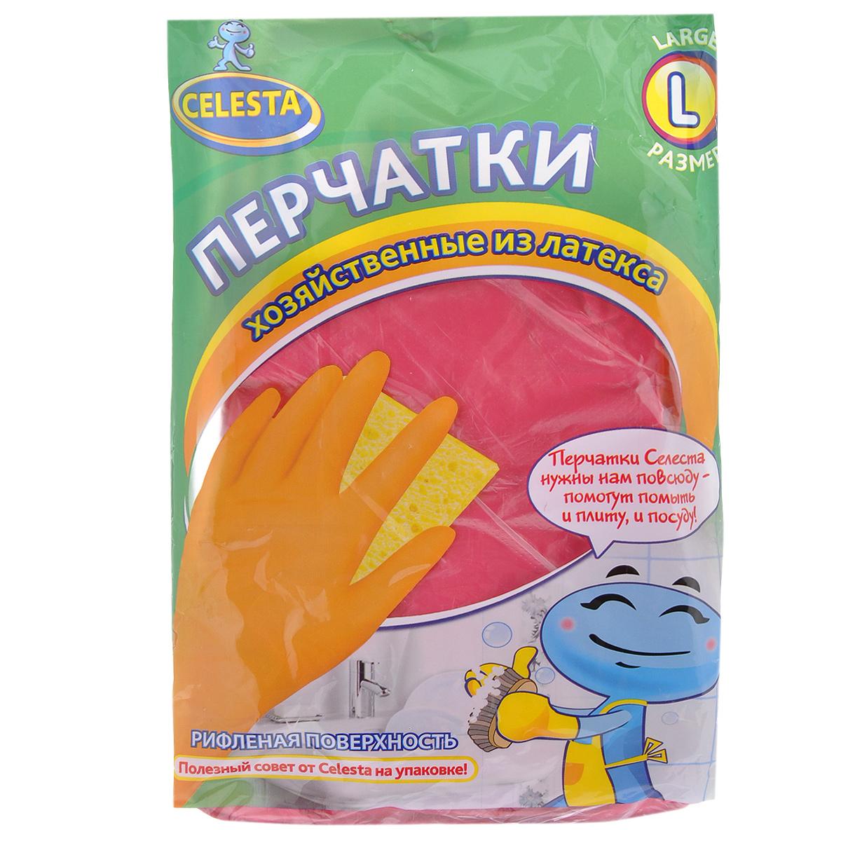 Перчатки хозяйственные Celesta, цвет в ассортименте. Размер L