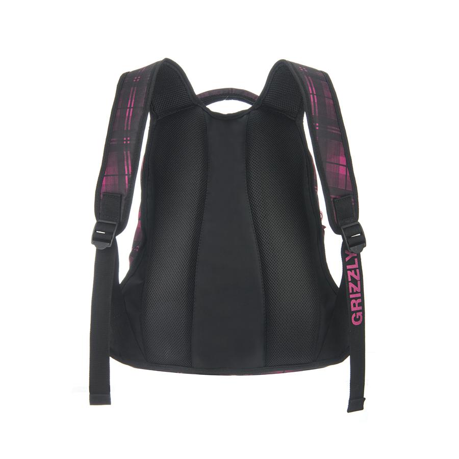 Рюкзак городской Grizzly, цвет: фуксия, черный, 24 л. RD-524-1/3 Grizzly