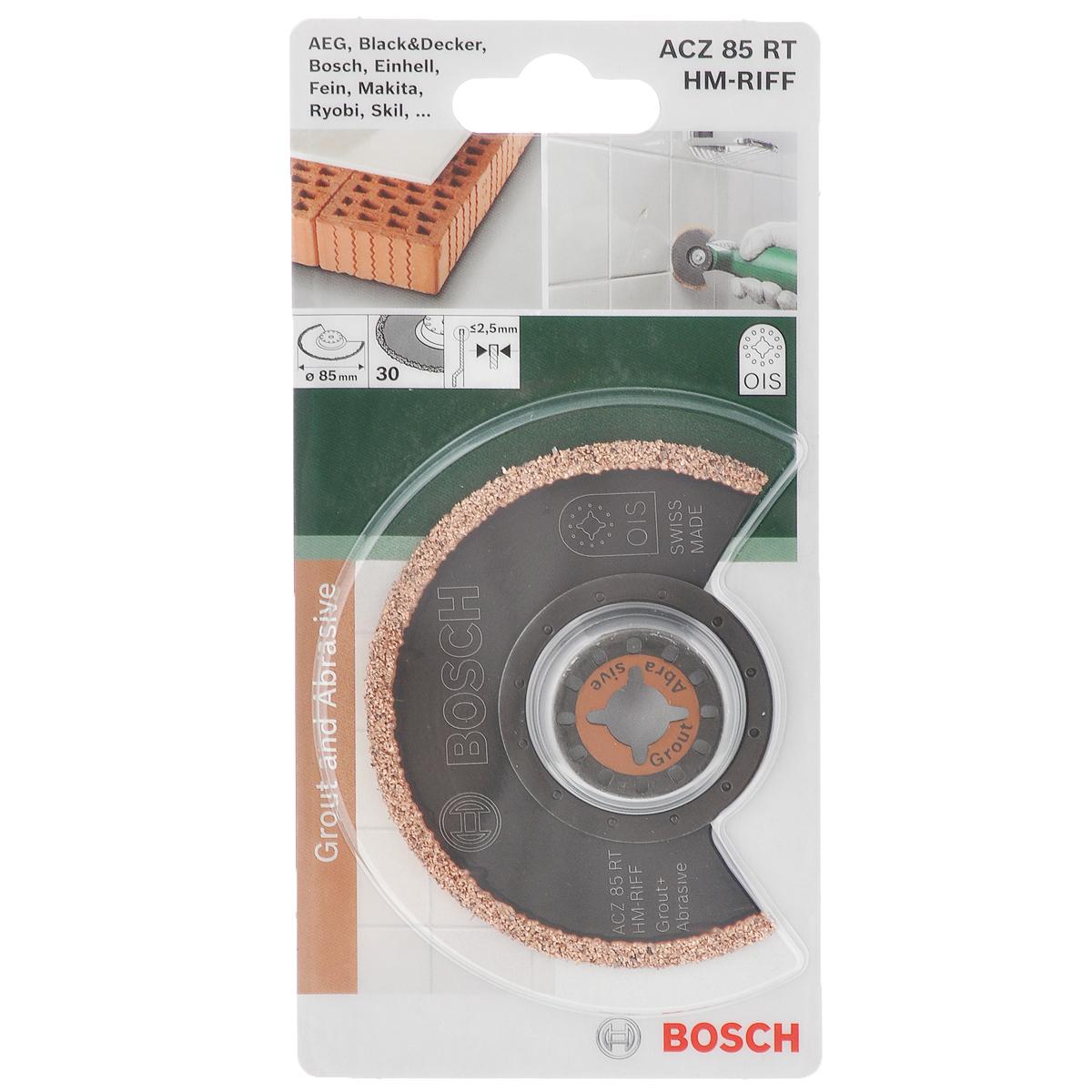 Пильное полотно Bosch HM-Riff, диаметр 85 мм многофункциональный инструмент bosch pmf 1800 e