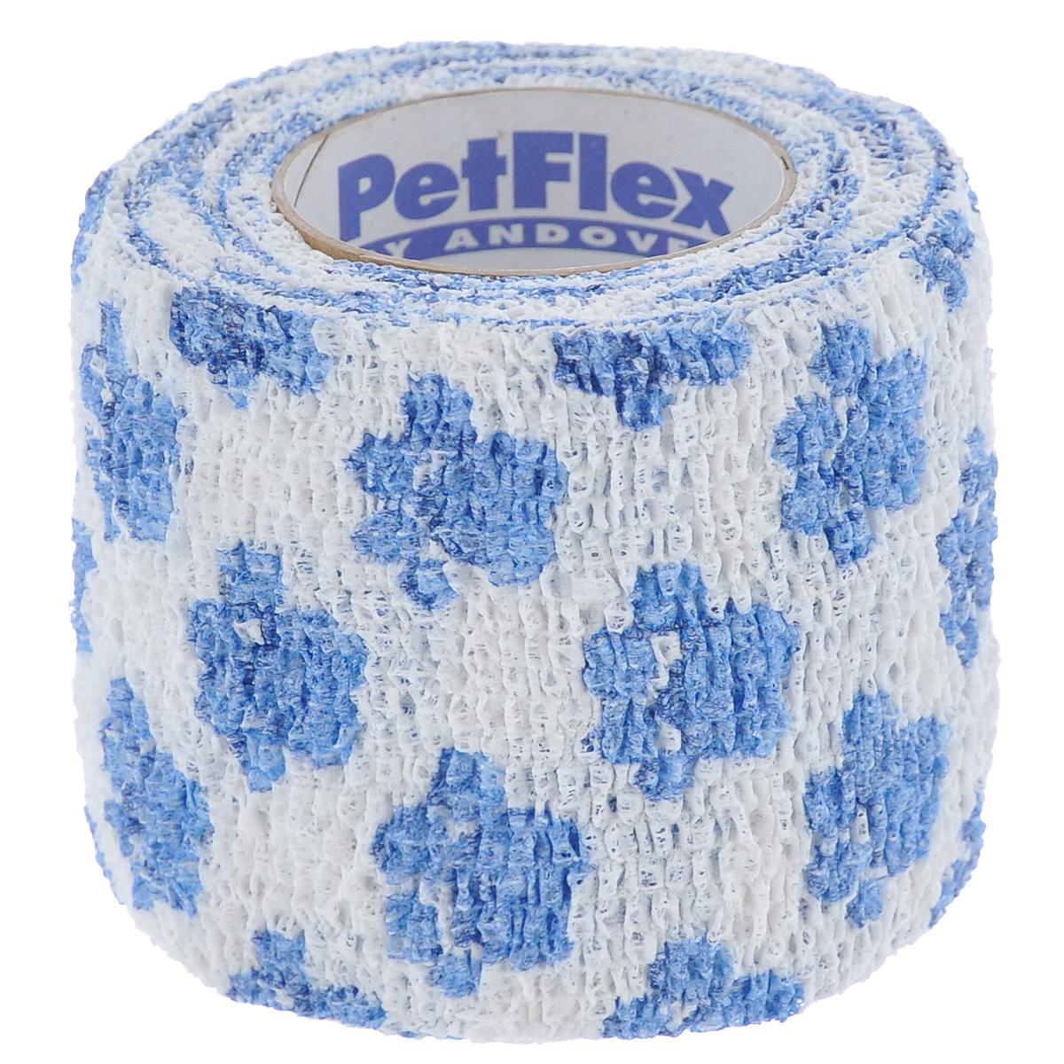 Фото - Бандаж для животных Andover Pet Flex, цвет: белый, голубой, 5 см х 450 см бандаж пояс послеоперационный комф орт 5 к 604