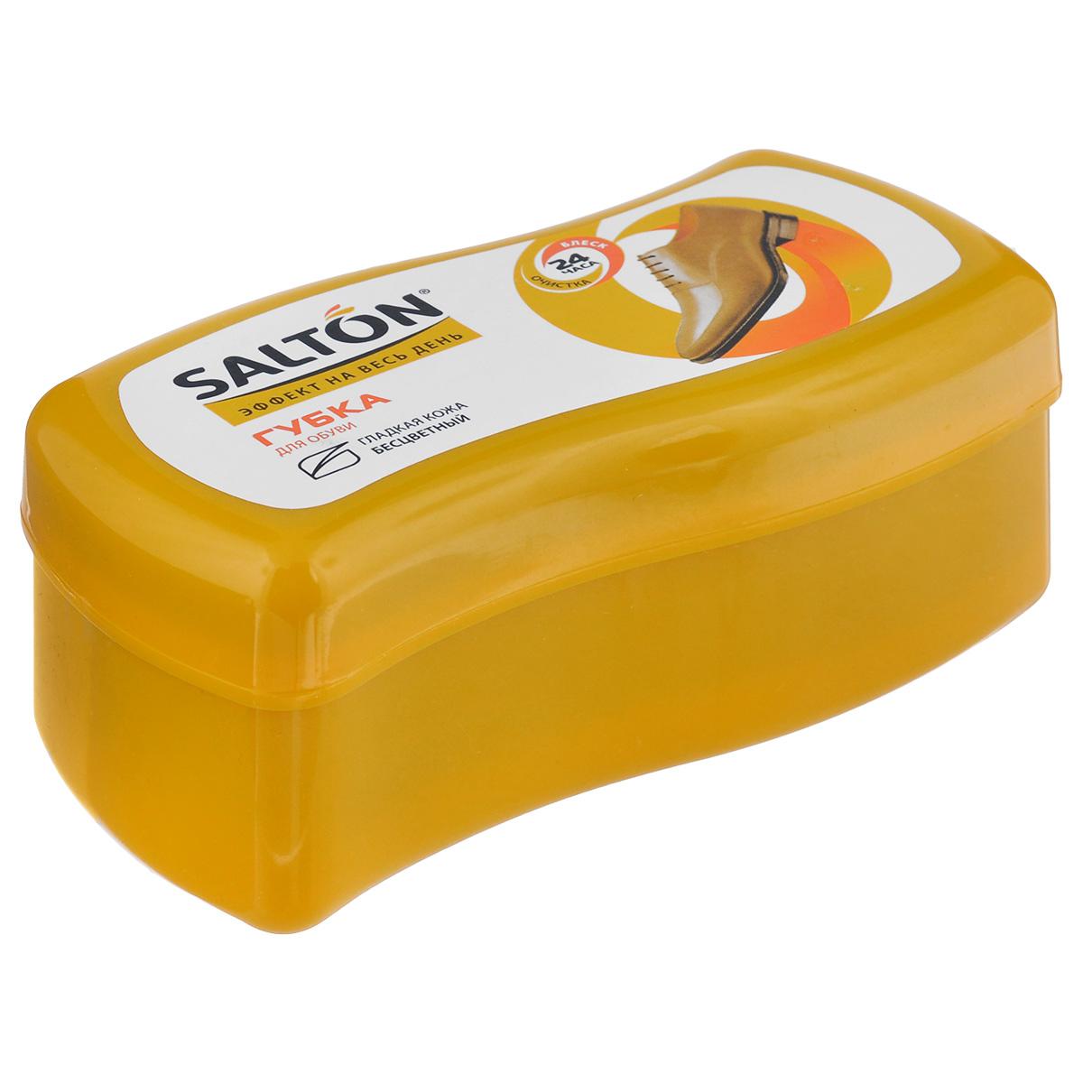 Губка Salton Волна для обуви из гладкой кожи, цвет: бесцветный, 12 см х 5,5 см х 5,5 см губка д обуви salton волна бесцветная д гладкой кожи с норковым маслом