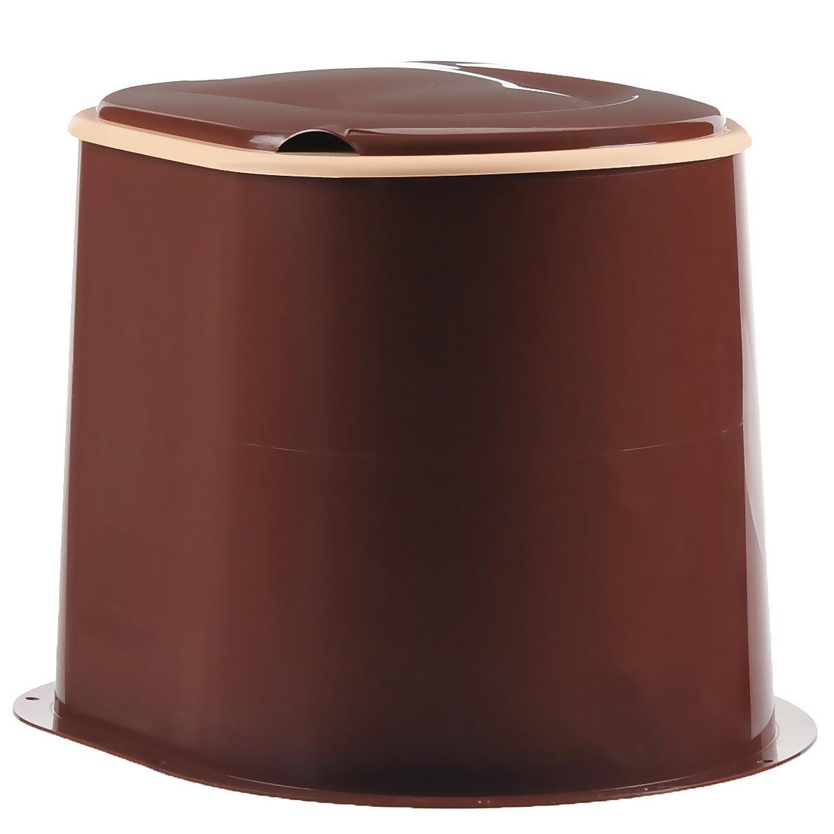 Туалет дачный Альтернатива, цвет: коричневый. М1295