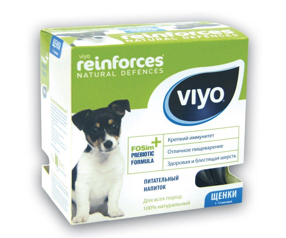 """Пребиотический напиток Viyo """"Reinforces Dog Puppy"""", для щенков, 7 х 30 мл"""