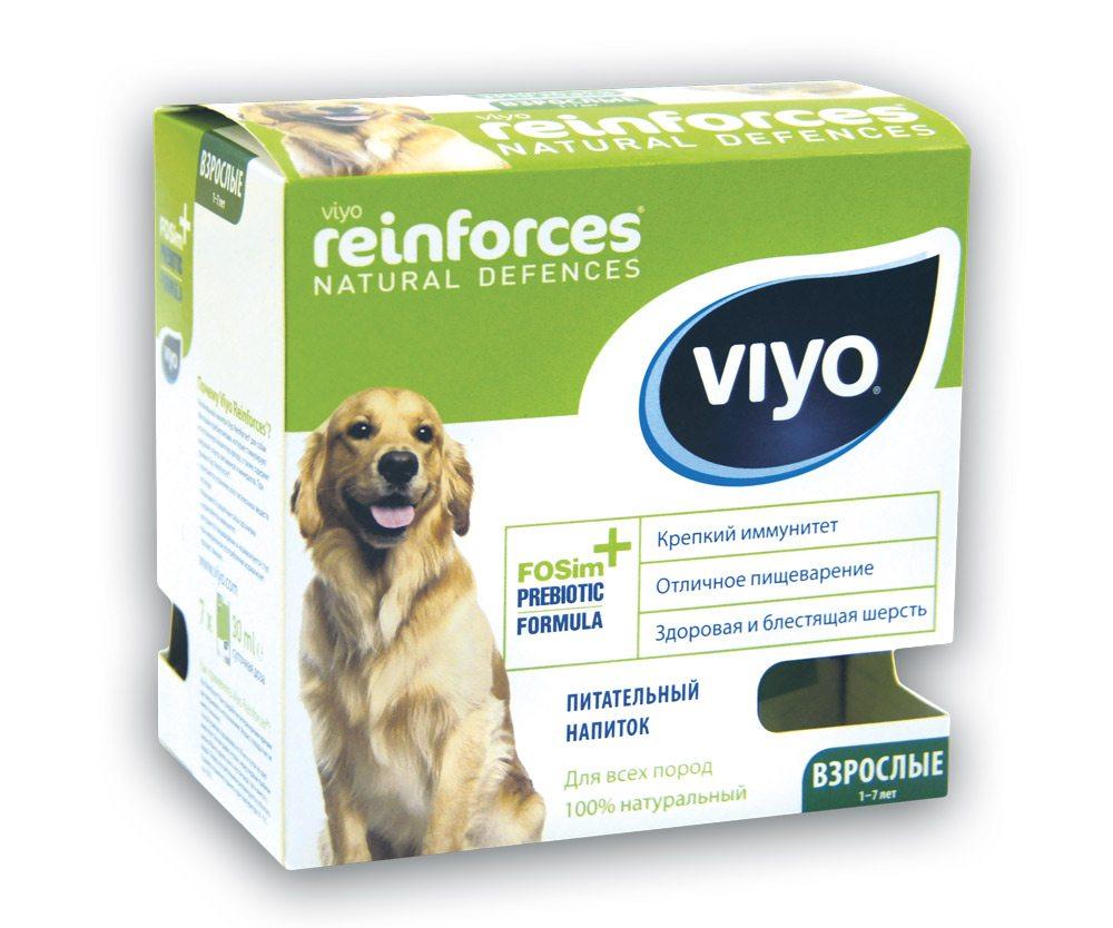 """Пребиотический напиток Viyo """"Reinforces Dog Adult"""", для взрослых собак, 7 х 30 мл"""