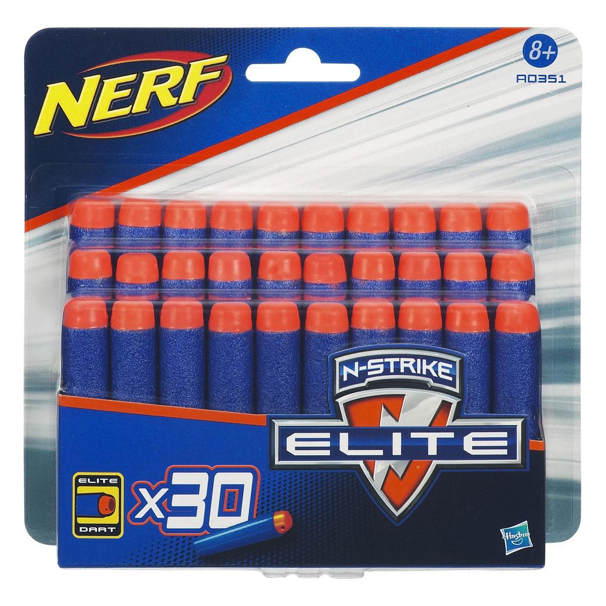Nerf Набор стрел для бластеров Elite 30 шт nerf аксессуар для бластеров рукоять с фонариком